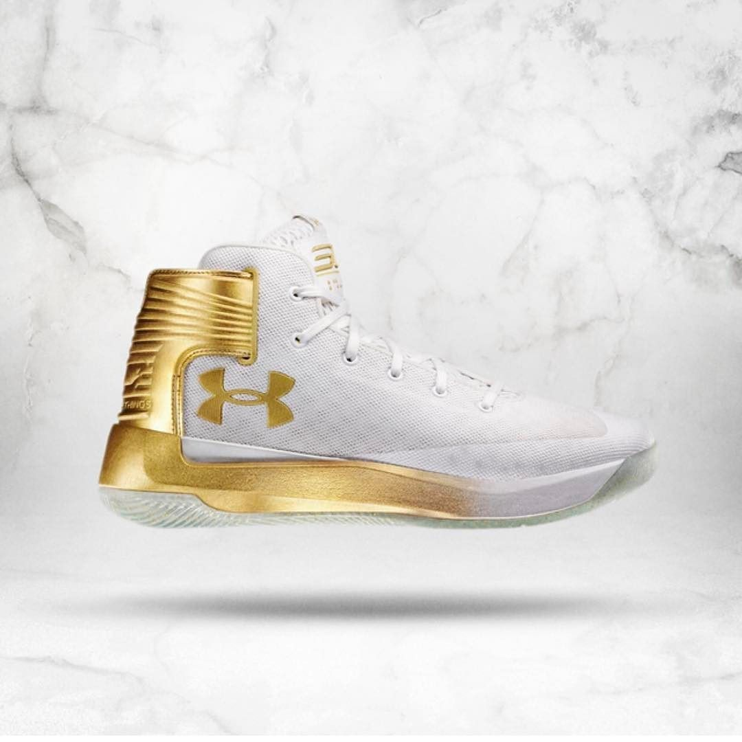 63d9e89ca096 Under Armour reveals Steph Curry s playoff shoe the CURRY 3ZER0 in gold  colorway. Price down to  120  20 cheaper than Curry 3.
