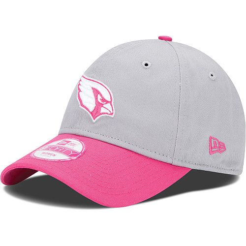 Women s New Era Arizona Cardinals Breast Cancer Awareness 9FORTY®  Structured Adjustable Hat beb019461