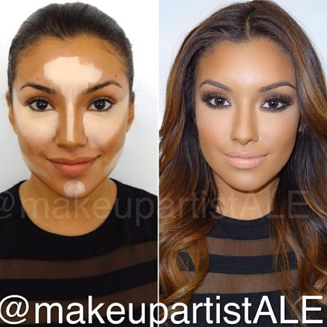 highlight and contouring | Make-up | Pinterest | Beautiful ...