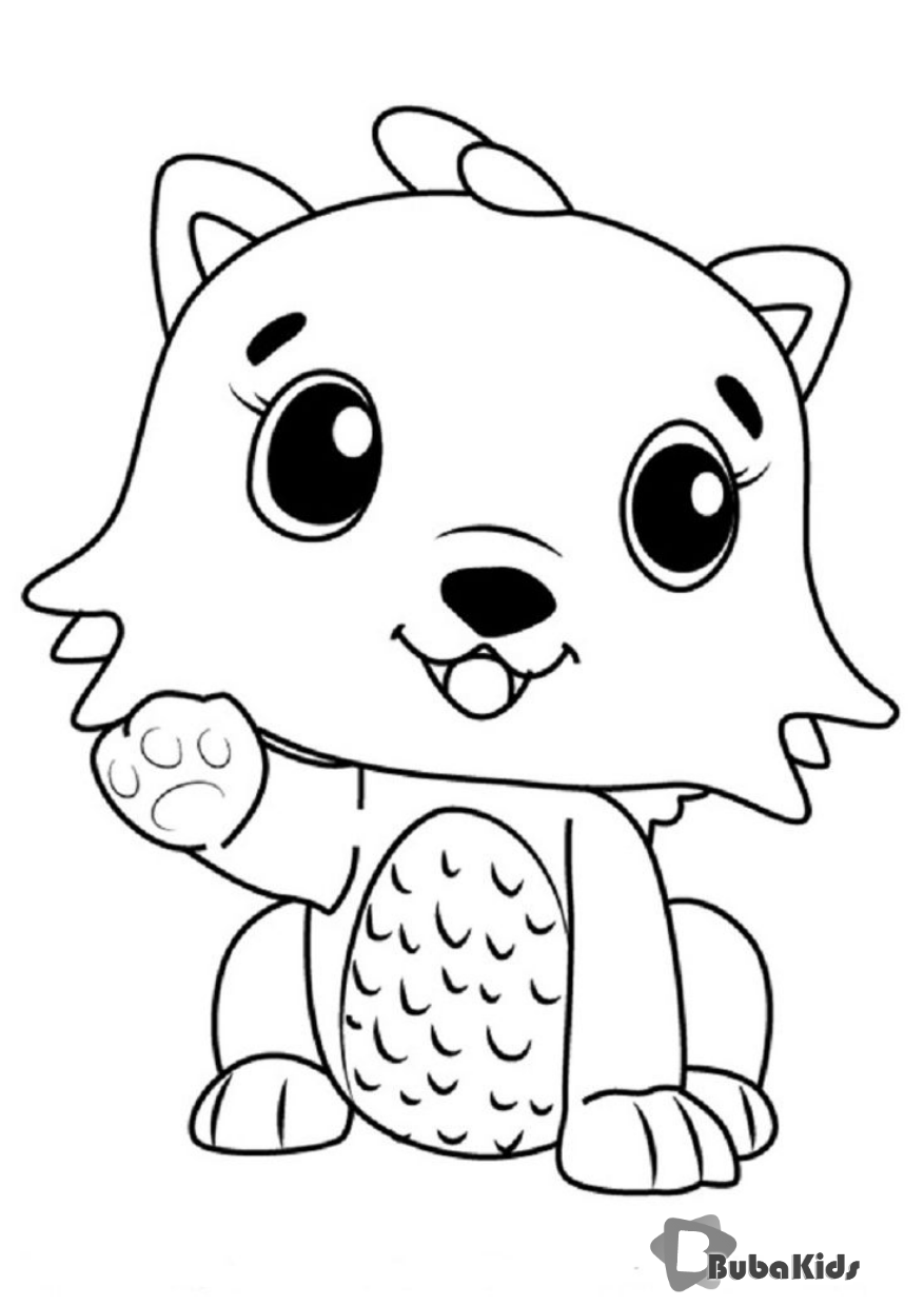 hatchimals kittycan coloring pages  puppy coloring pages