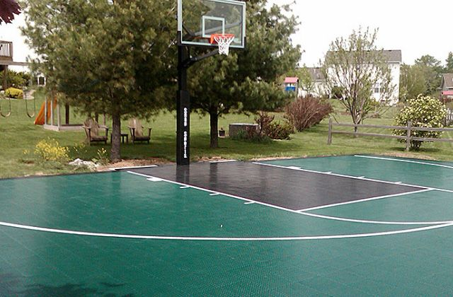 Outdoor Courts Sports Flooring Greater Toronto Area Basketball Court Backyard Backyard Basketball Backyard Court