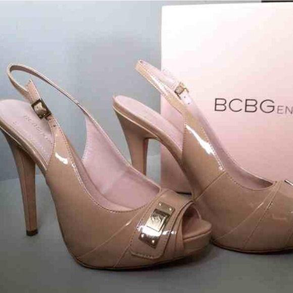 BRAND NEW BCBG Patent Nude Pumps BRAND NEW BCBG nude pumps. BCBG Shoes Heels