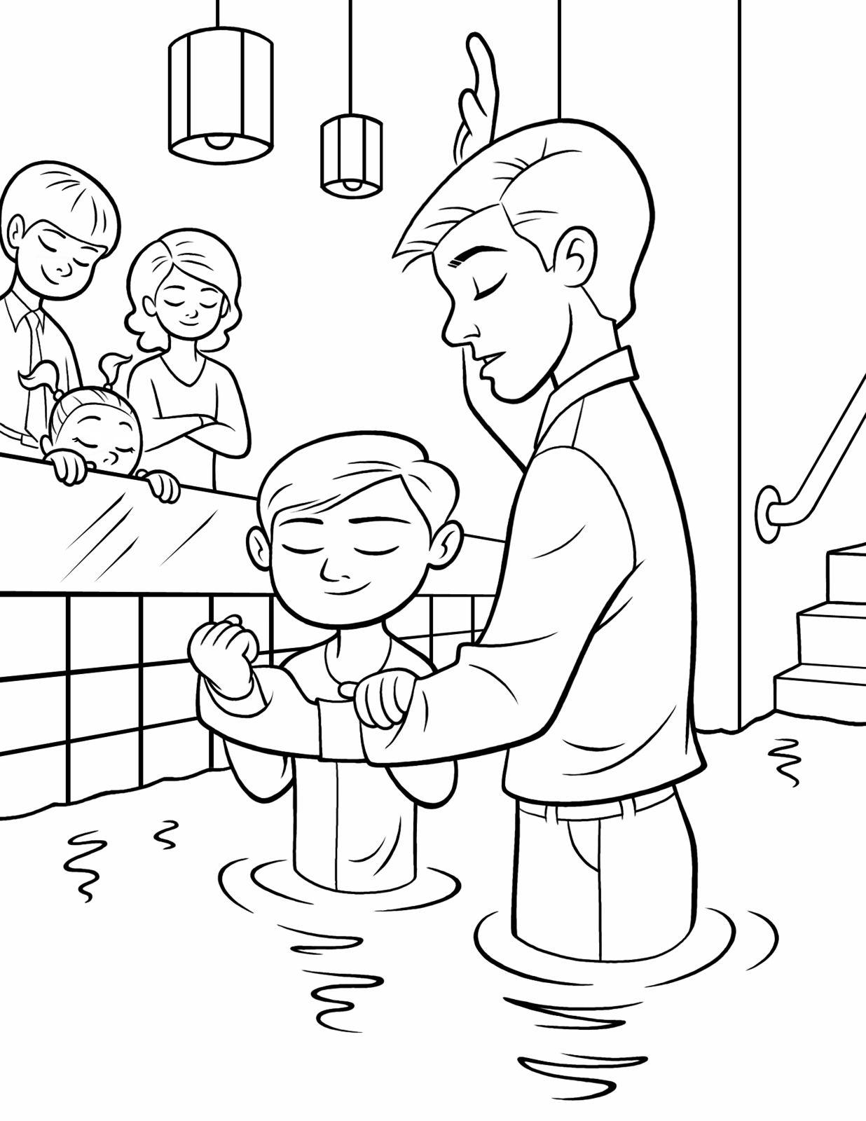 Billedresultat For Lds Baptism Jesus Coloring Pages Lds