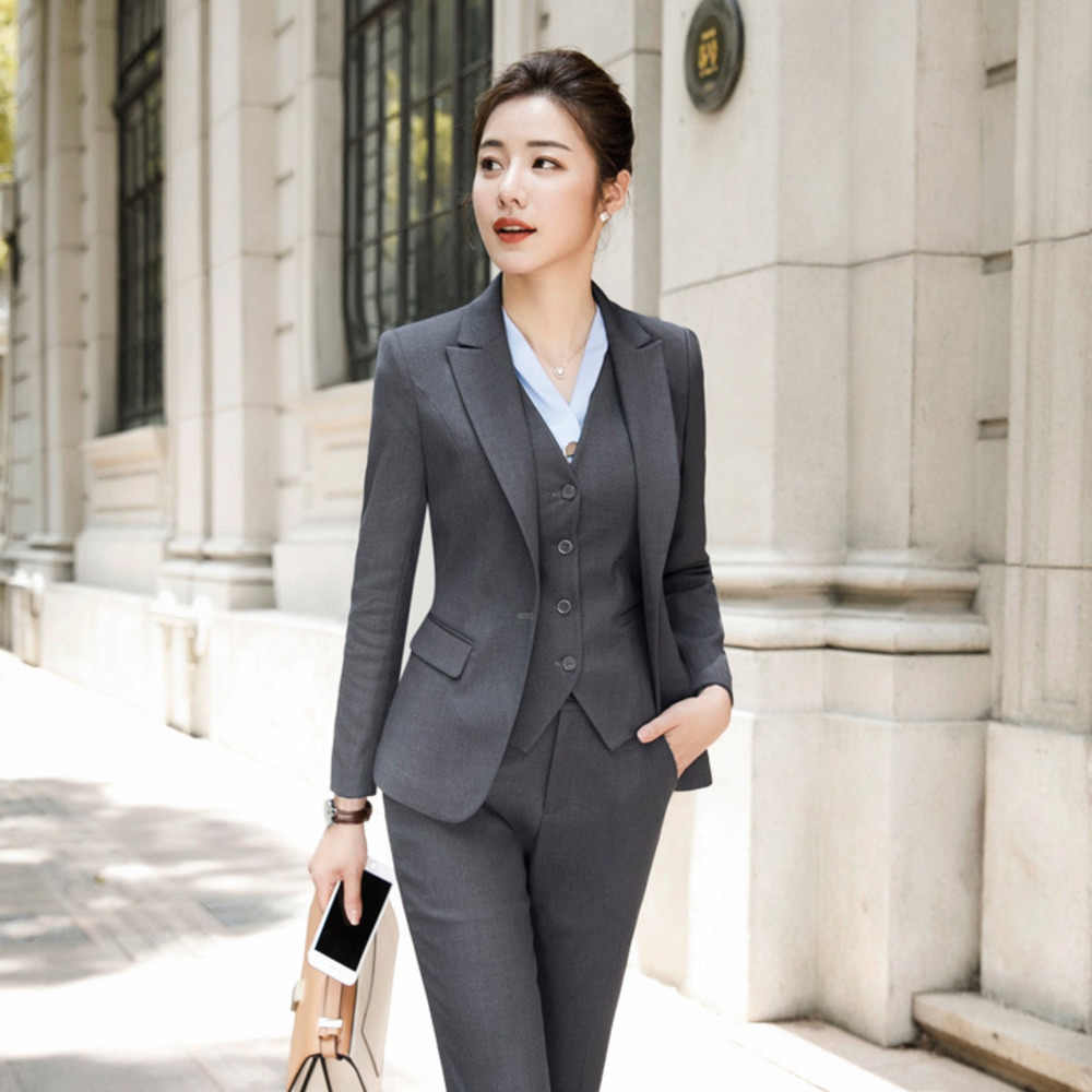 Pant Suits Formal Office Wear For Ladies