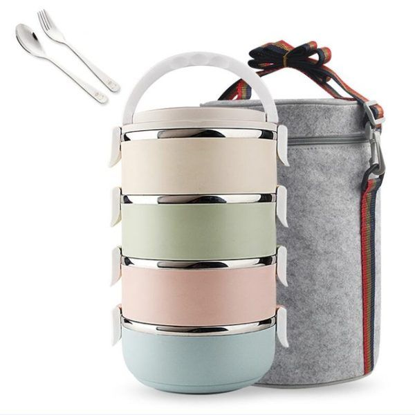 bento box stainless steel lunch box stackable lunch box stainless steel bento box cute. Black Bedroom Furniture Sets. Home Design Ideas