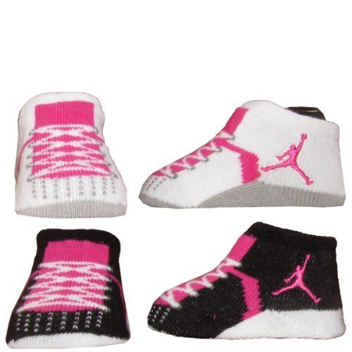 Baby Shoes Girl Jordans Nike Air Jordan Baby 0-6 Months Newborn Infant  Booties Includes 2 pair newborn baby Jordan … | Pinteres…