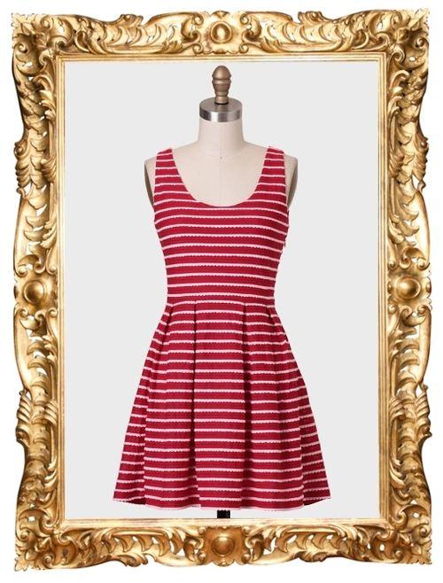 Ice Cream Parlour Striped Dress - $42.99
