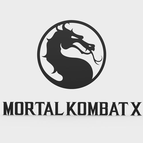 mortal kombat x logo | 3D Model