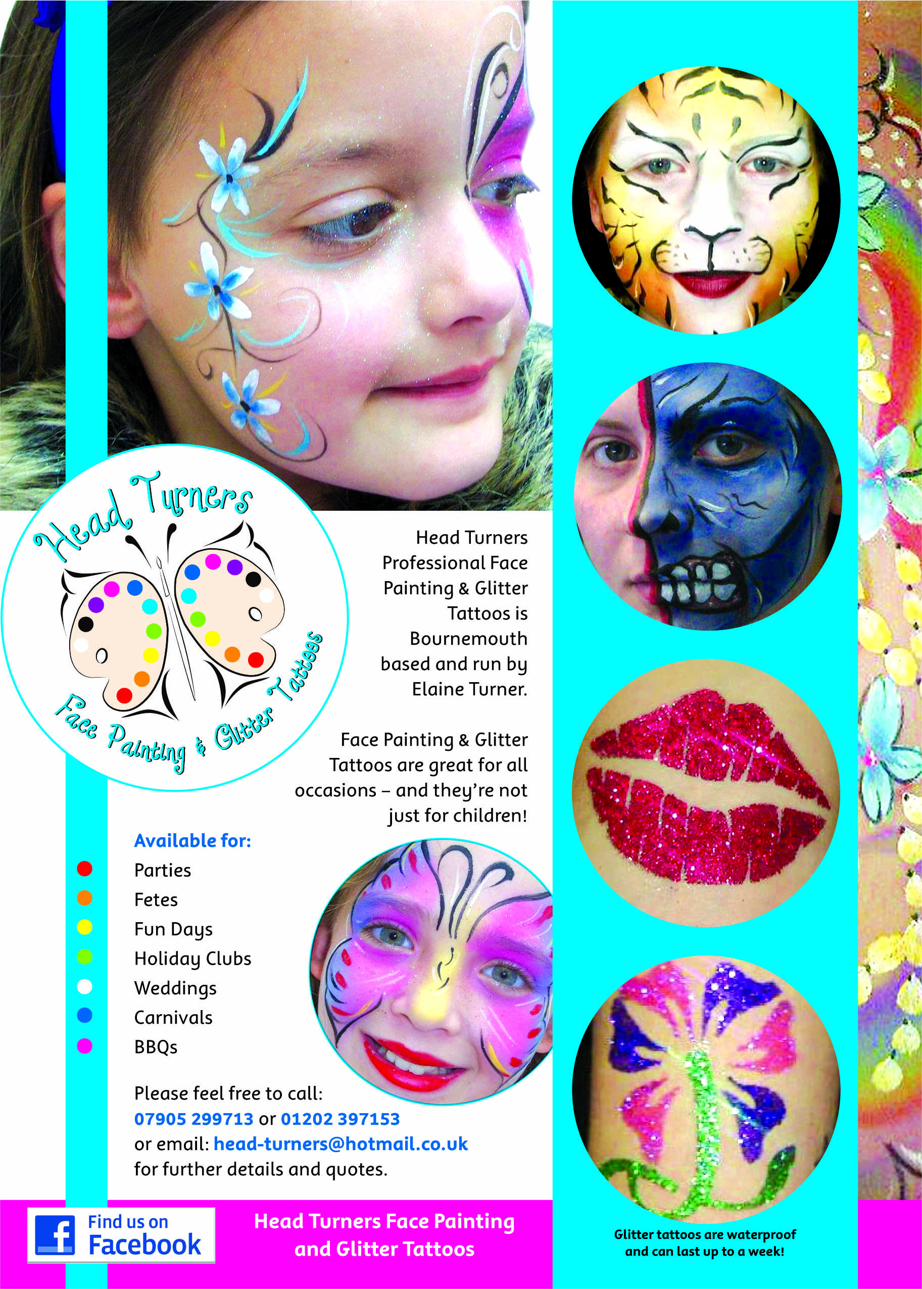 Head Turners Flyer 1825x2551 Flyers Ideas Belly Painting