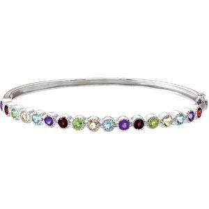 Women Jewelry 925 Sterling Silver Topaz Amethyst /& Peridot Multi Gemstone Bracelet
