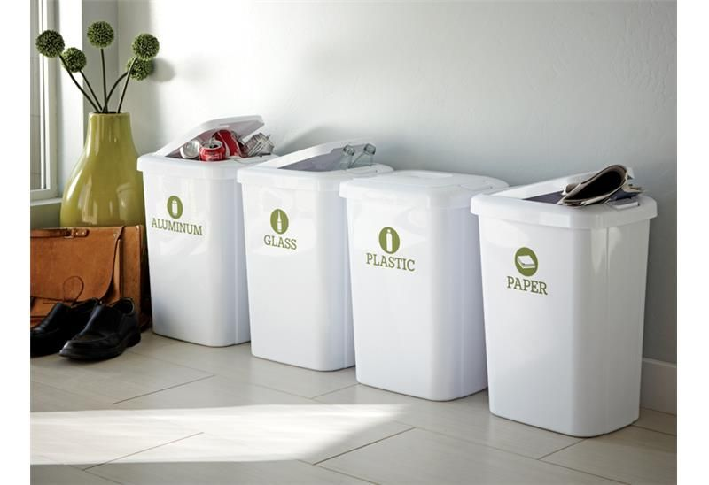 Decals to label recycling bins | DIY | Pinterest | Organizing ...