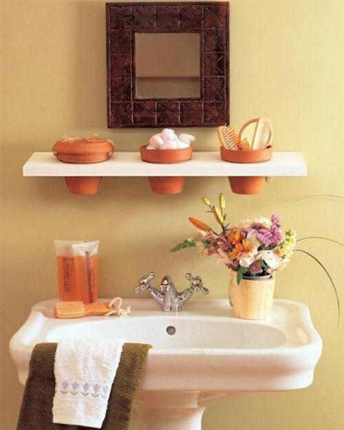 coole Einrichtungsideen fürs kleine Badezimmer regale blumentöpfe - regal fürs badezimmer