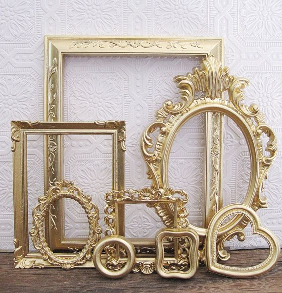 vintage wall frames. Vintage Gold Picture Frames For Baby Girl Nursery  walls s