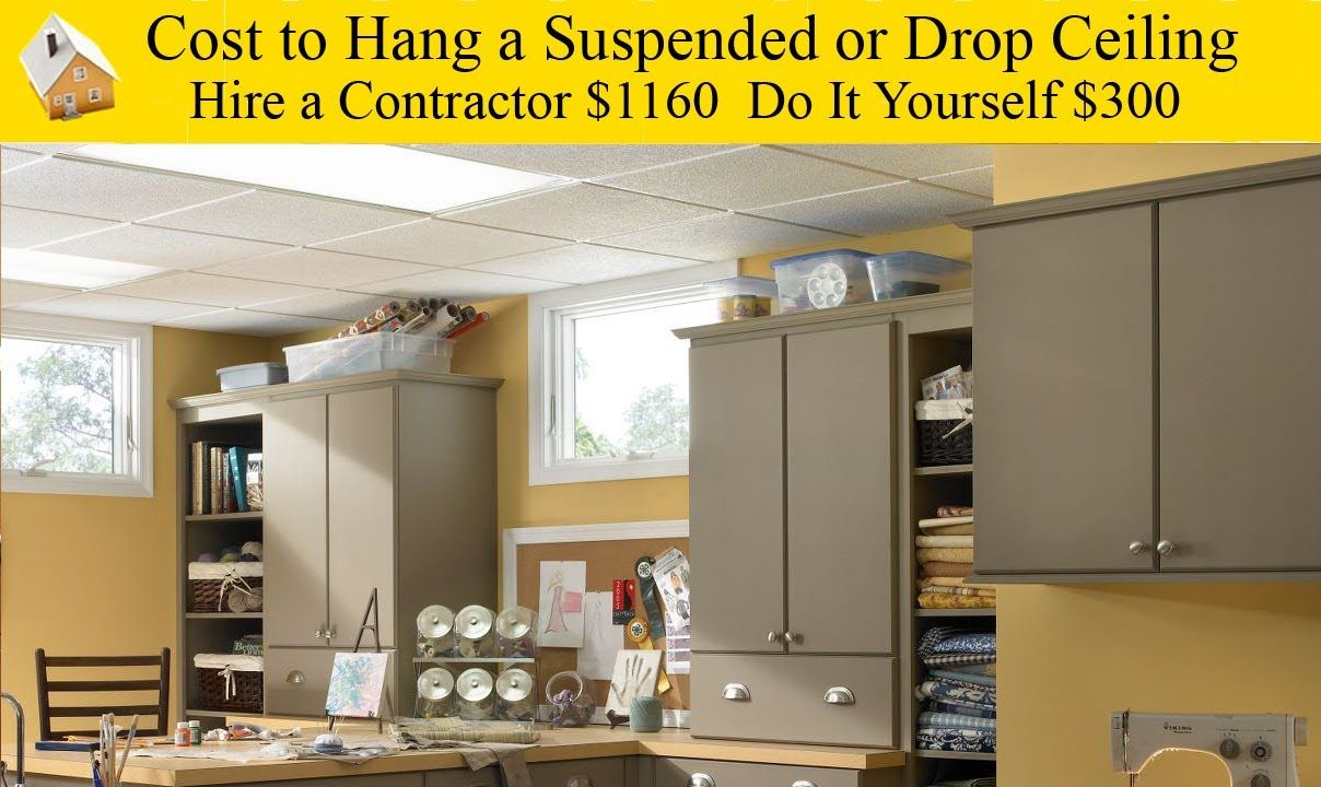 Diy job cost to hang a drop ceiling remodeling a basement heres diy job cost to hang a drop ceiling remodeling a basement heres how much solutioingenieria Choice Image