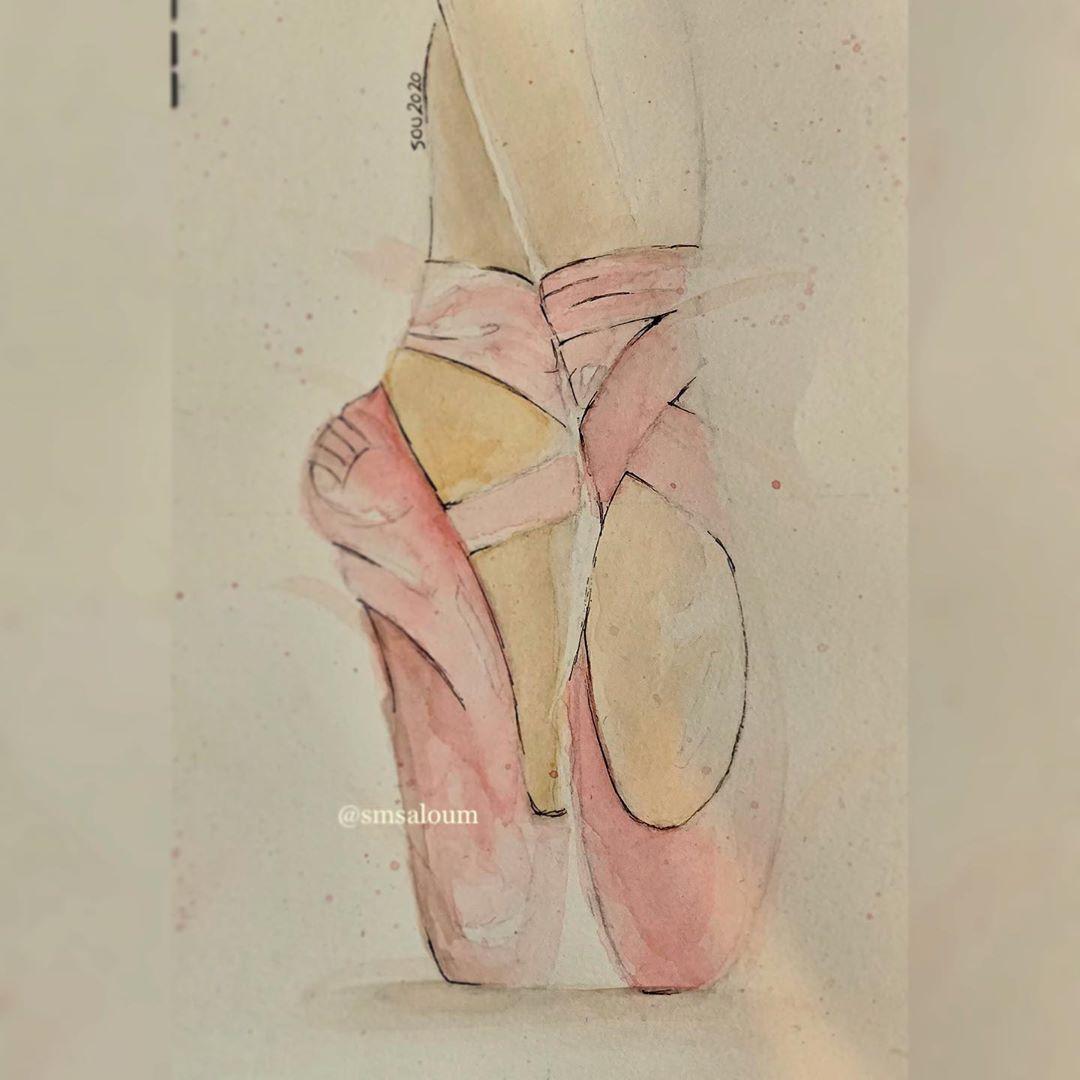 #aquarelle #aquarellepainting #aquarelleart #aquarellegallery #aquarelles #ballet #ballerina #balletdancer #painting #paintings #drawing #drawings  #art #artistsoninstagram #artwork #artworks #watercolorpainting #watercolor #watercolouring  #tattoos #tattoo #tattooideas #tattooink #tattooworld #quarantinelife #egyptian #egyptianartist #egyptianartists #artoholic 🎨🎨