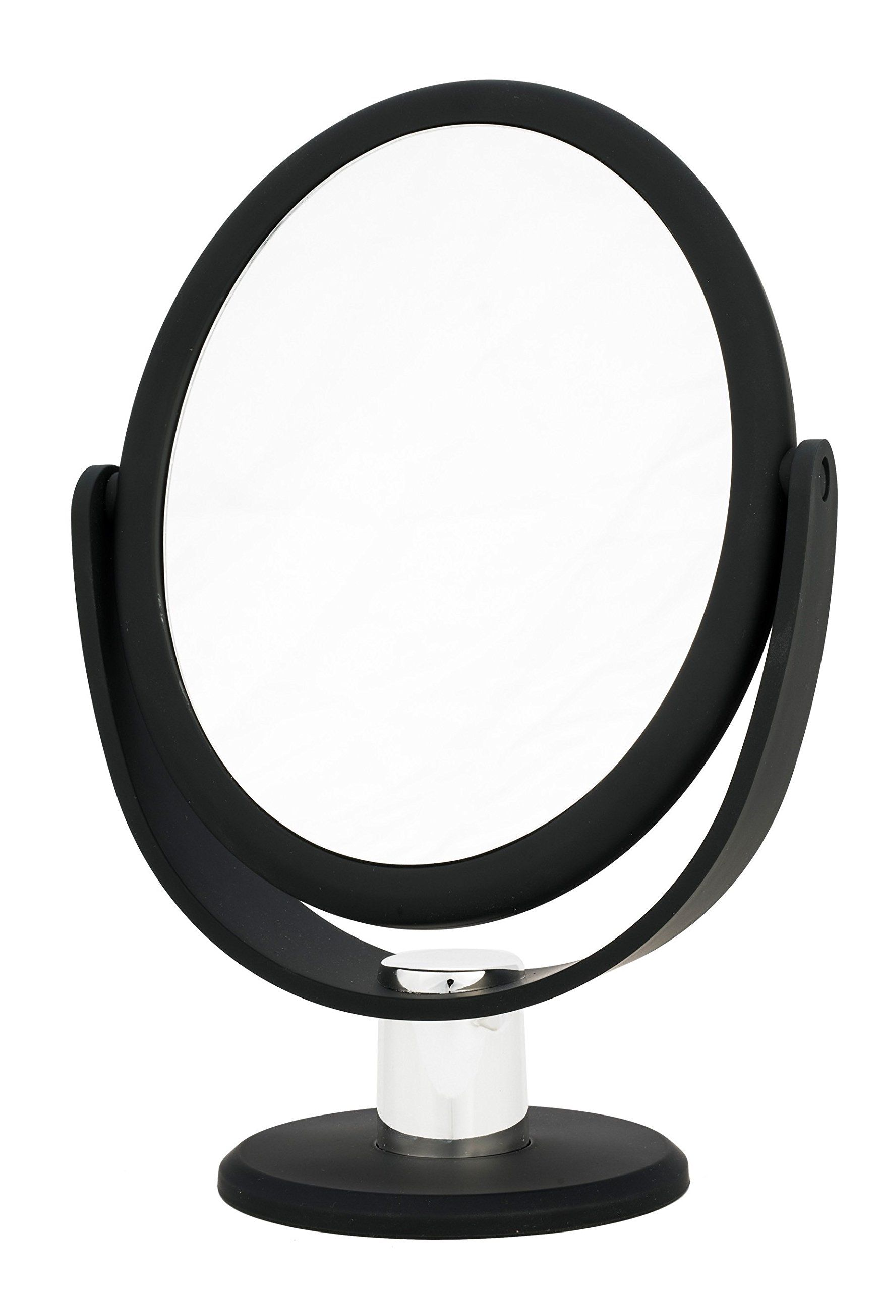 Danielle Creations Soft Touch Black Oval Vanity Mirror 7x