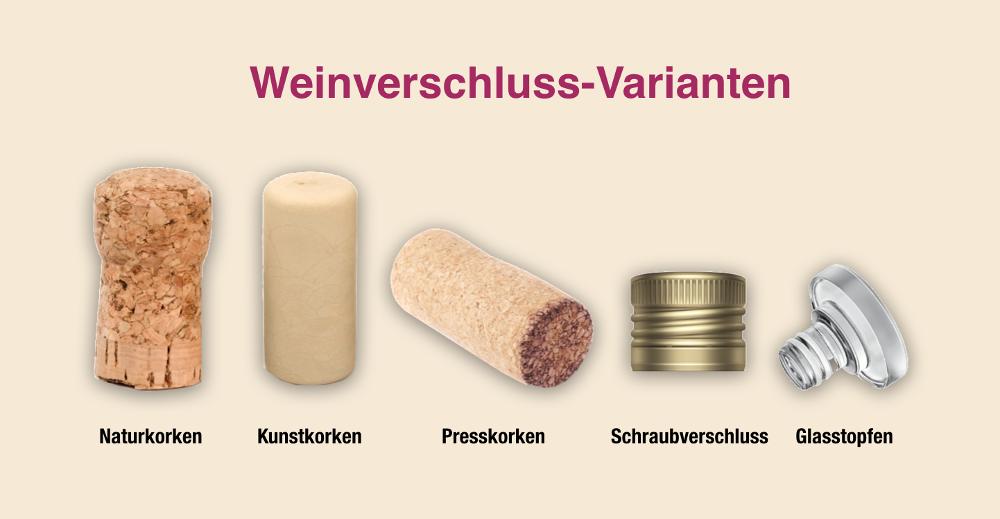 Inzwischen gibt es mehrere Verschlussvarianten für Weinflaschen - von Naturkorken bishin zu Schraubverschlüssen und Glasstopfen. Aber welcher ist der beste?