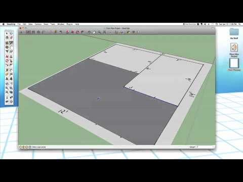 Sketchup 24 Modeling A Floor Plan Sketch Up Architecture