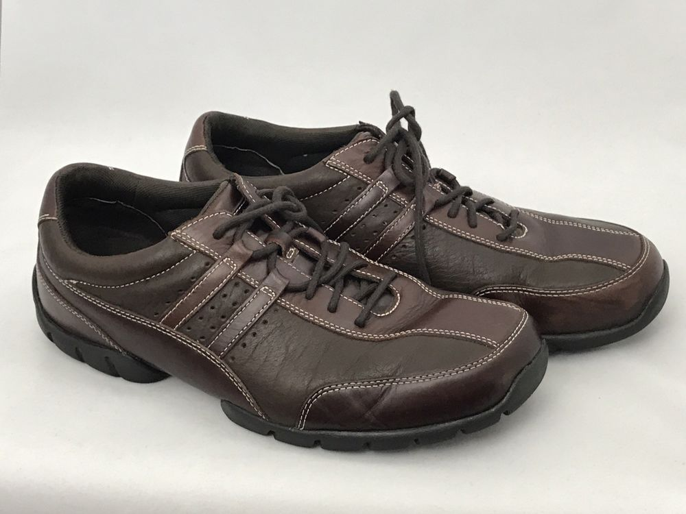 Rockport XCS Brown & Black Lace Up Shoe Casual Sneaker Size 11.5 M #Rockport  #