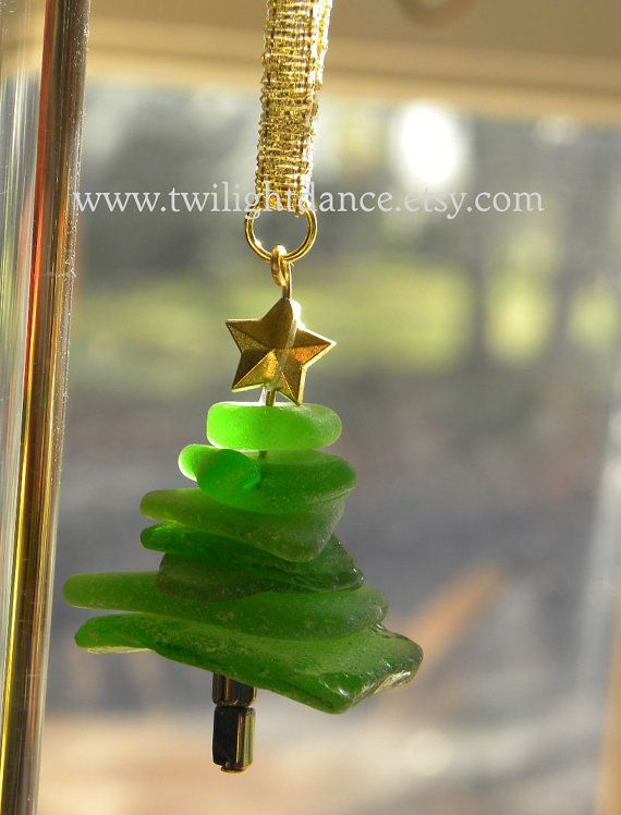 Jersey Shore Seaglass Christmas Tree Ornament Sea Von Twilightdance