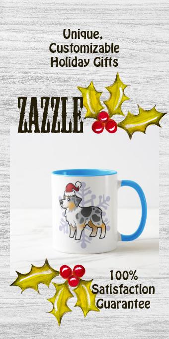 Christmas Australian Shepherd Mug | Zazzle.com in 2020 ...