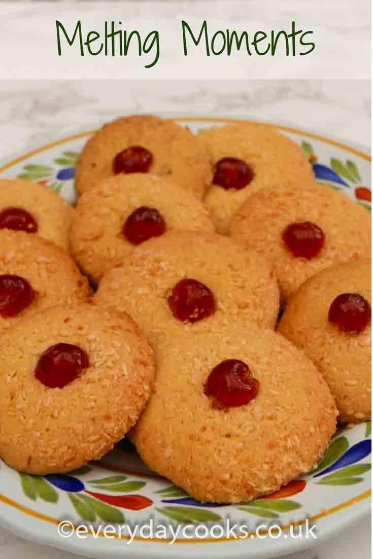 Melting Moments  Everyday Cooks Melting Moments are a traditional English biscuit buttery and crunchy rolled in oats or coconut And they have to have a cherry on top