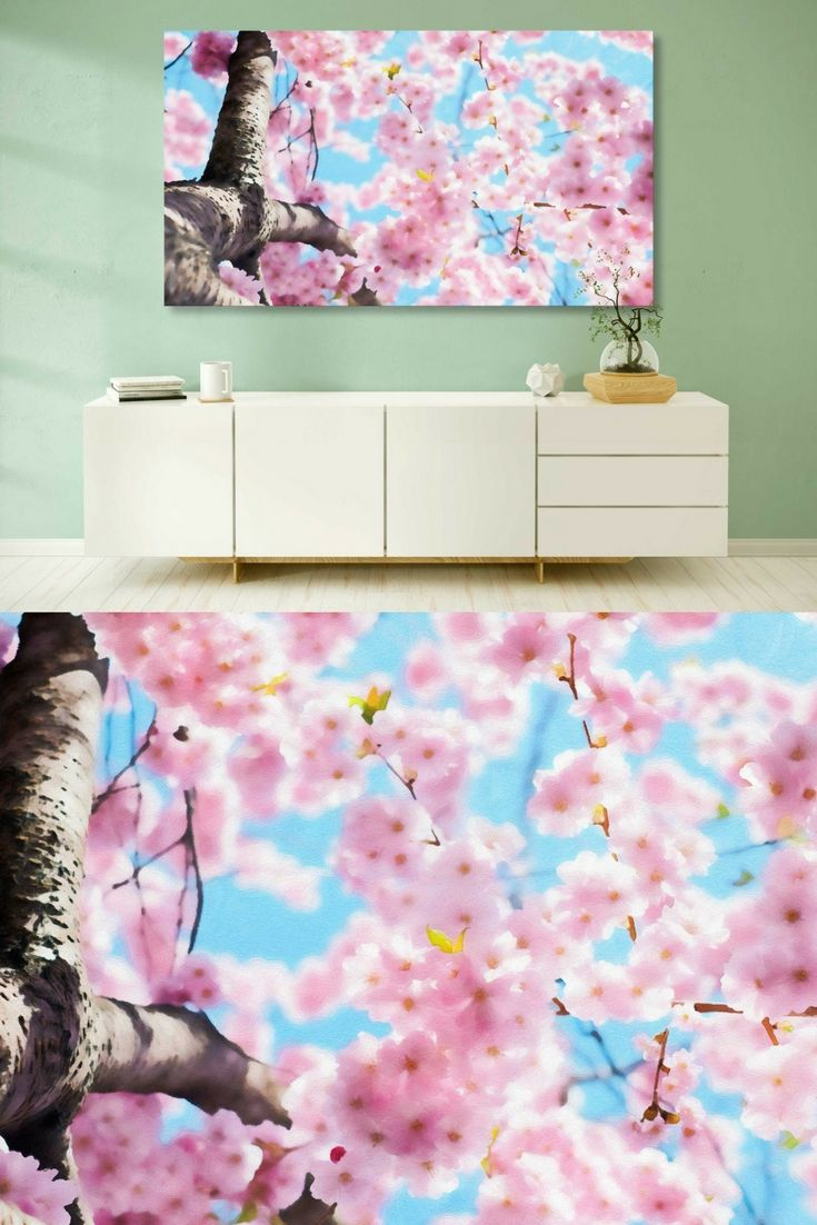 Cherry Blossoms Painting For Wall Decor & Home Decor