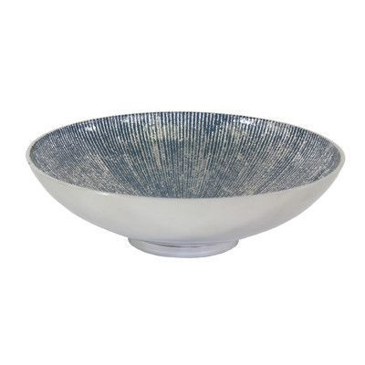 Large Glass Decorative Bowls Pleasing Pampa Bay Serenity Large Round Decorative Bowl Color Blue Review