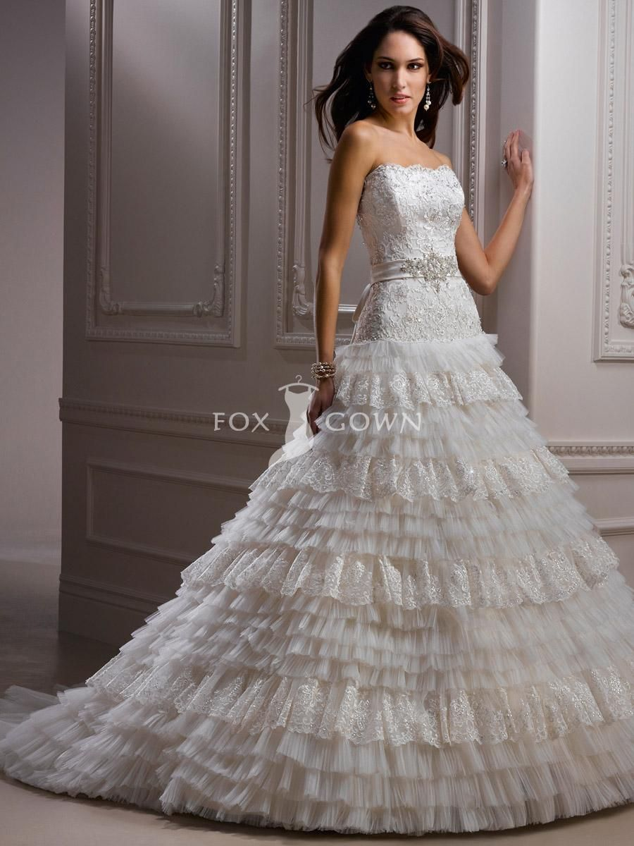 Lace Wedding Dress with Layers