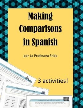 Making Comparisons in Spanish: Communicative Worksheets | Foreign ...