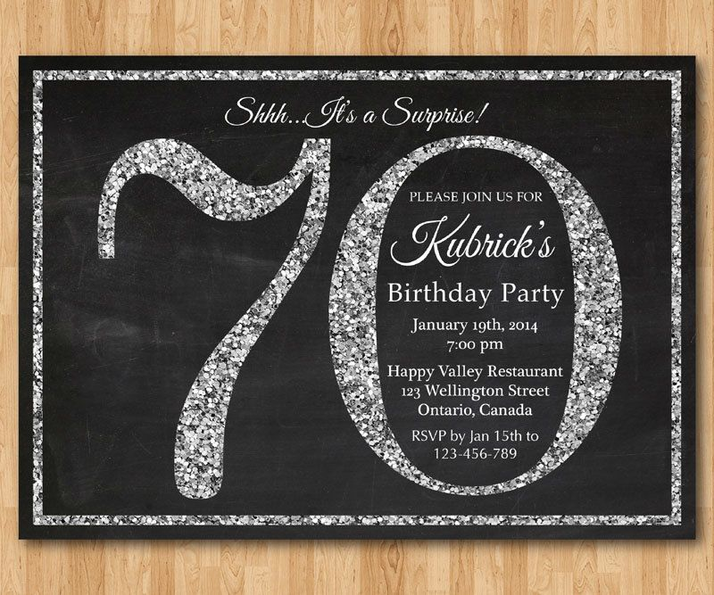 70th Birthday Invitations With Photos | New Invitations | Pinterest ...
