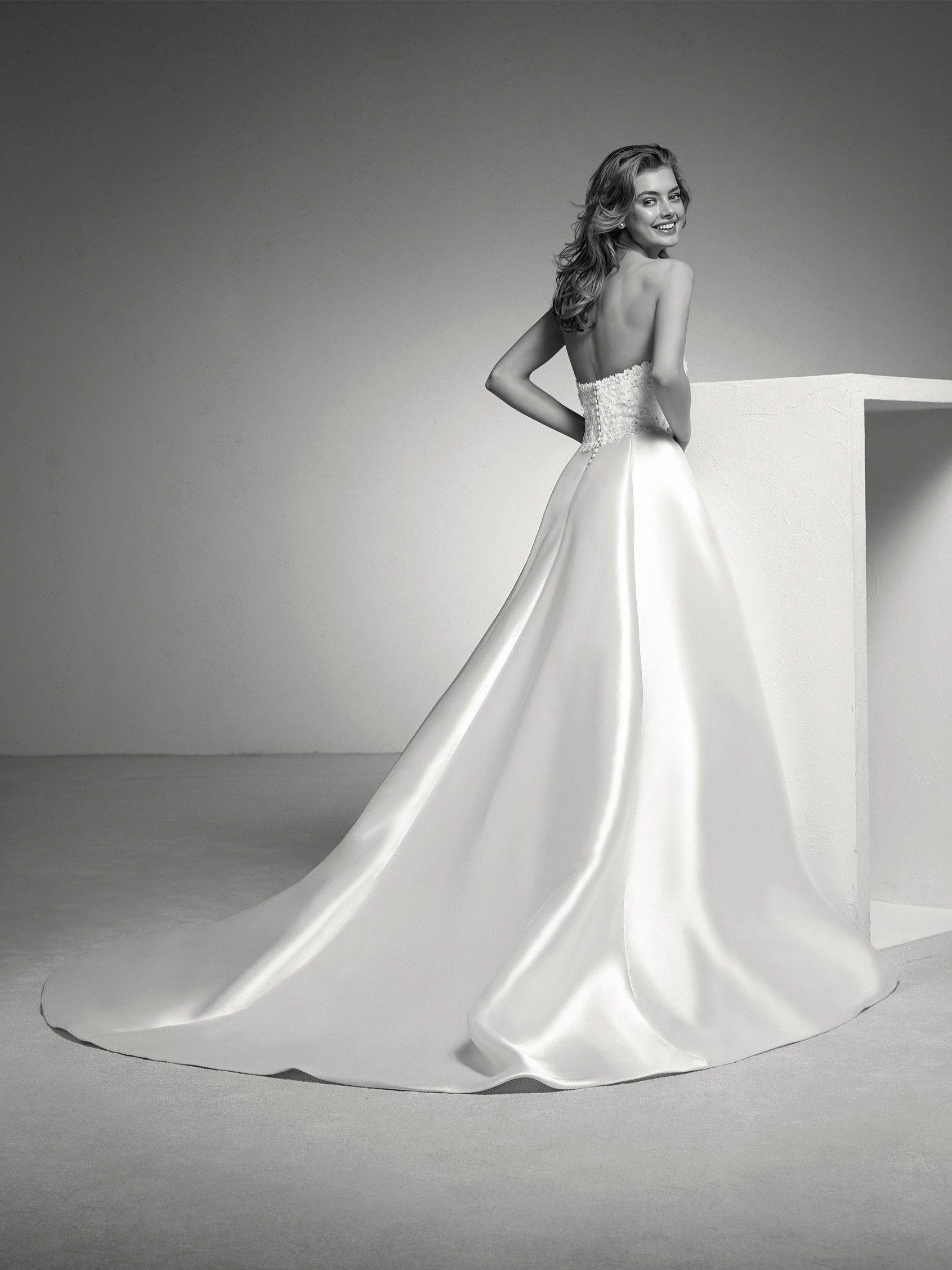 Wedding dress mikado twopiece effect pronovias collection