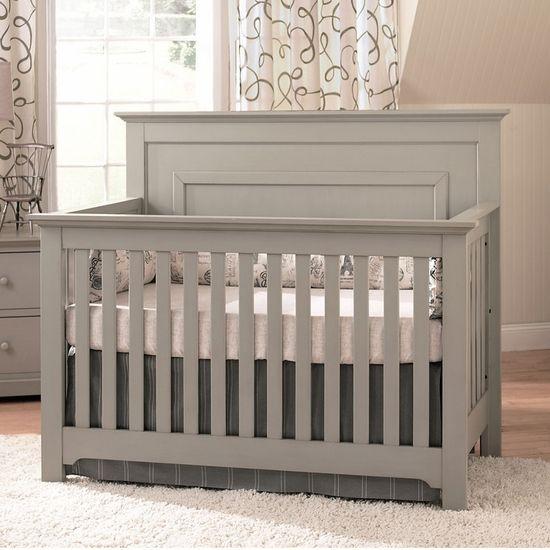 Chesapeake Light Grey Lifetime Crib By Munire 7699 Gry Free Shipping Cribs Convertible Crib Baby Cribs Convertible