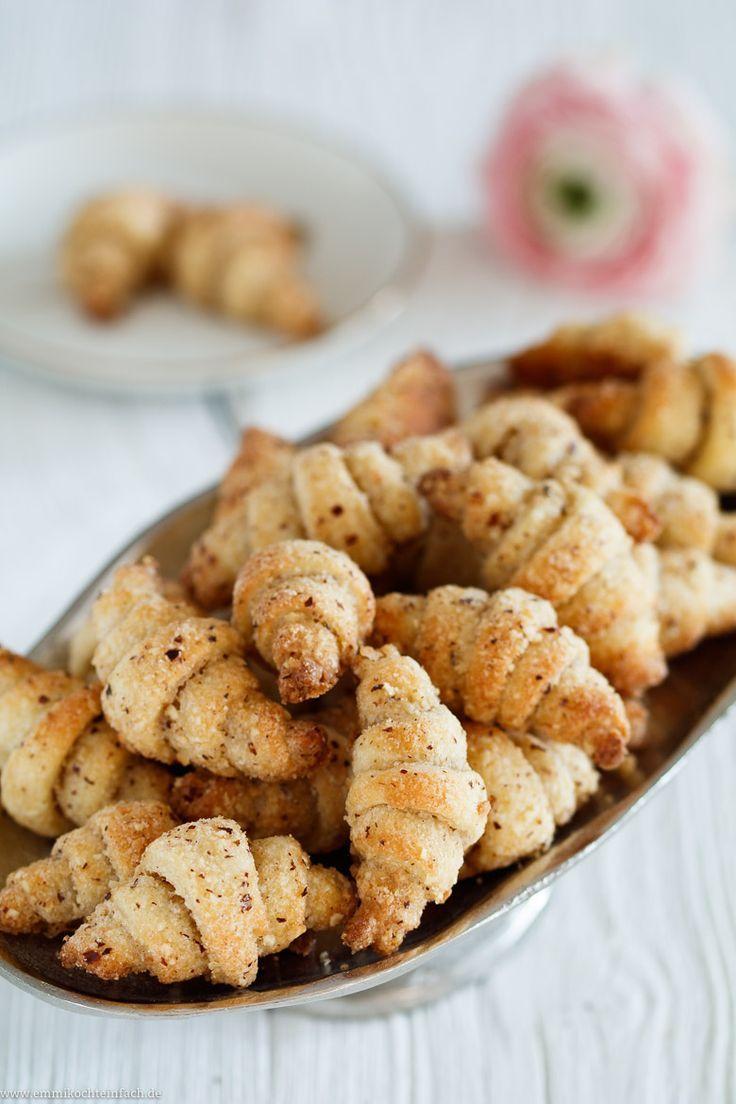 Mini-Haselnuss-Hörnchen mit Frischkäse #creamcheeserecipes