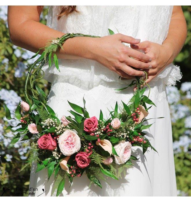 Bouquet Dream catcher en fleurs naturelles stabilisées, bouquet bohème