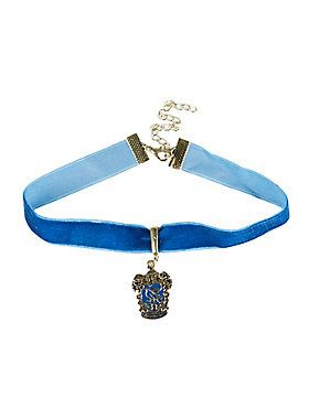 "<p>""Wit beyond measure is man's greatest treasure."" That or this choker from <i>Harry Potter.</i> Blue velvet choker features burnished gold tone Ravenclaw house crest pendant. </p>  <ul> 	<li>Alloy; man-made materials</li> 	<li>11 1/2"" long with 3"" extender</li> 	<li>Imported</li> </ul>"