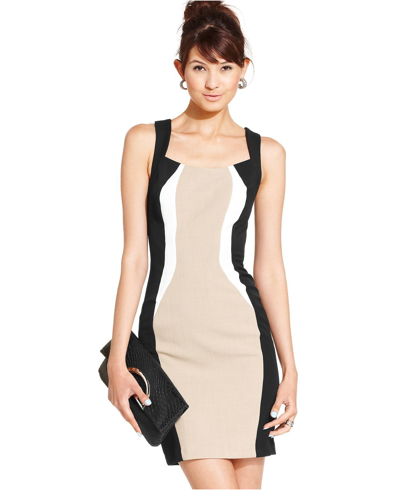 Xoxo juniors dress sleeveless colorblock sheath juniors dresses