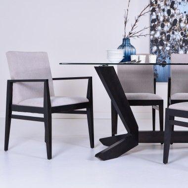 Table de salle à manger au design unique et moderne, son dessus en - salle a manger design moderne