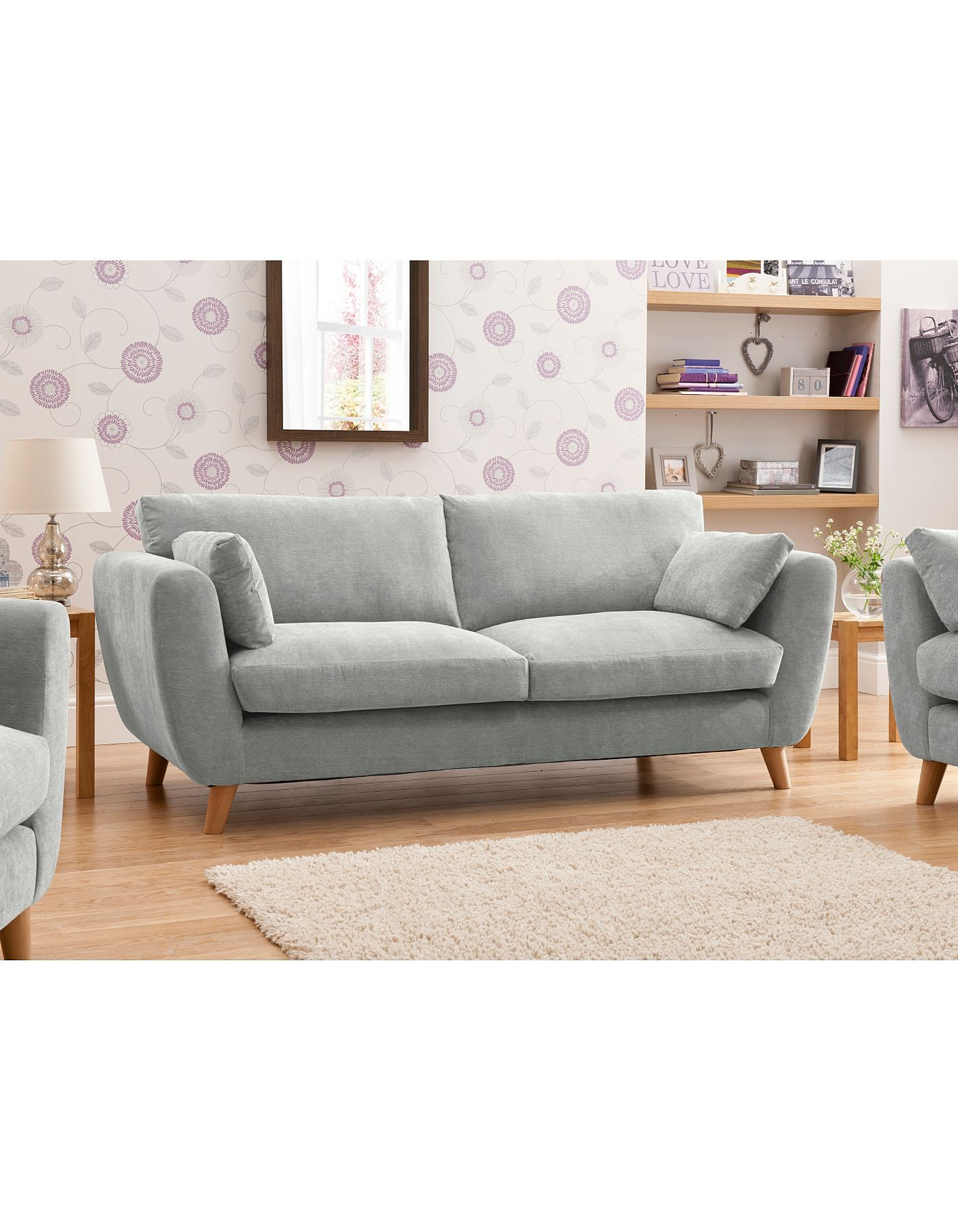 Sloane Sofa Asda Dark Grey Fabric Sectional Large In Green Sofas Armchairs Direct Inne
