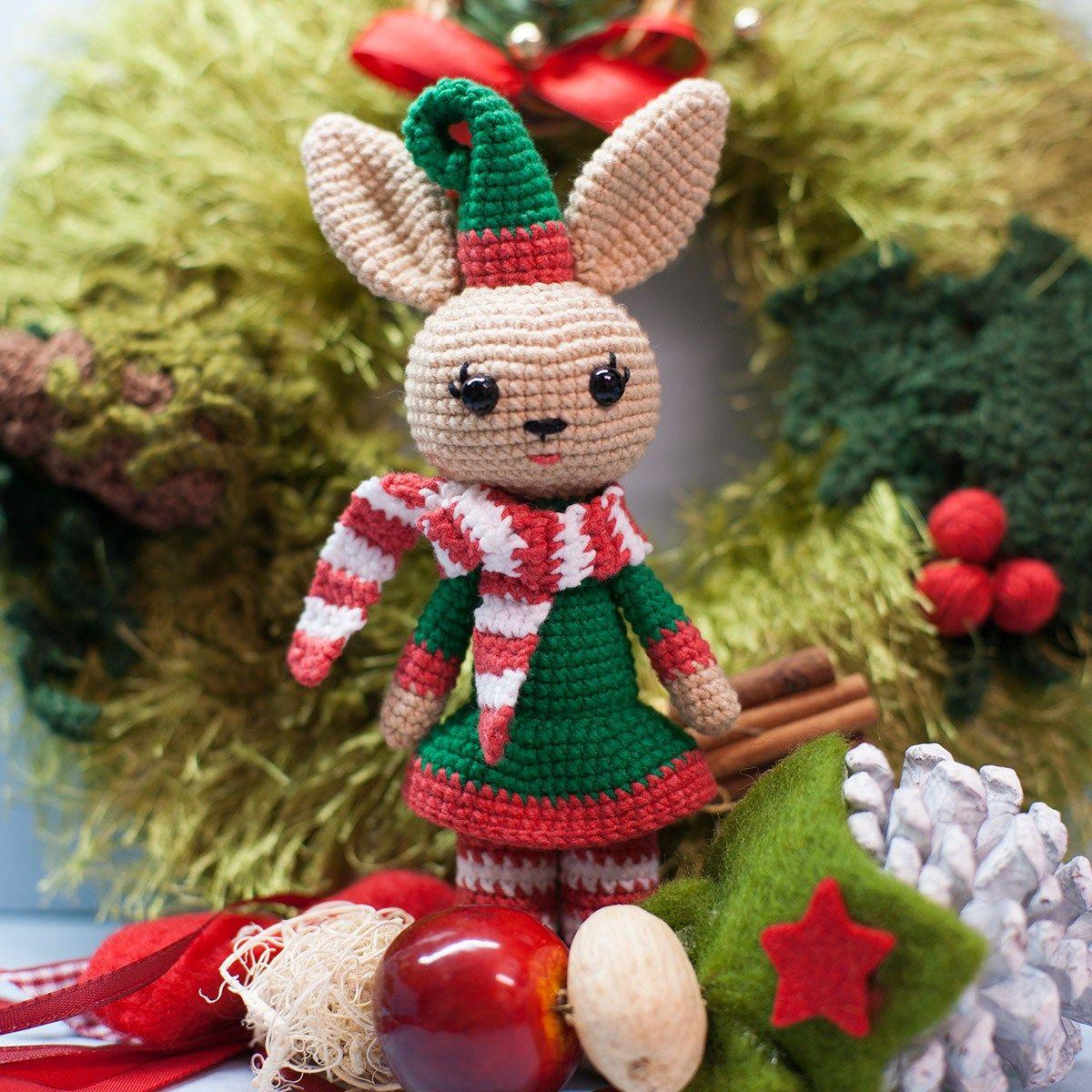 Amigurumi Christmas Bunny - Patrón de ganchillo gratis | ganchillo ...