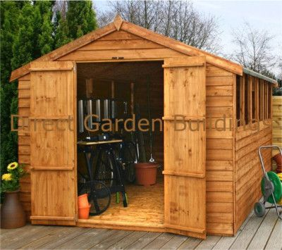 Garden Sheds 12x8 12ft x 8ft wooden garden shed 12x8 apex wood sheds timber overlap