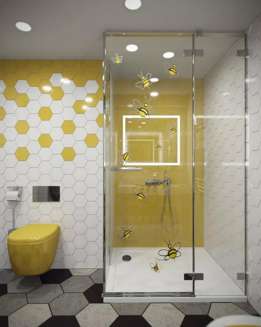 55 Small Yellow Bathroom Decorating Ideas 15 Home Design Ideas Yellowbathroomdesignideas Yellow Bathroom Decor Yellow Bathrooms Bathroom Decor