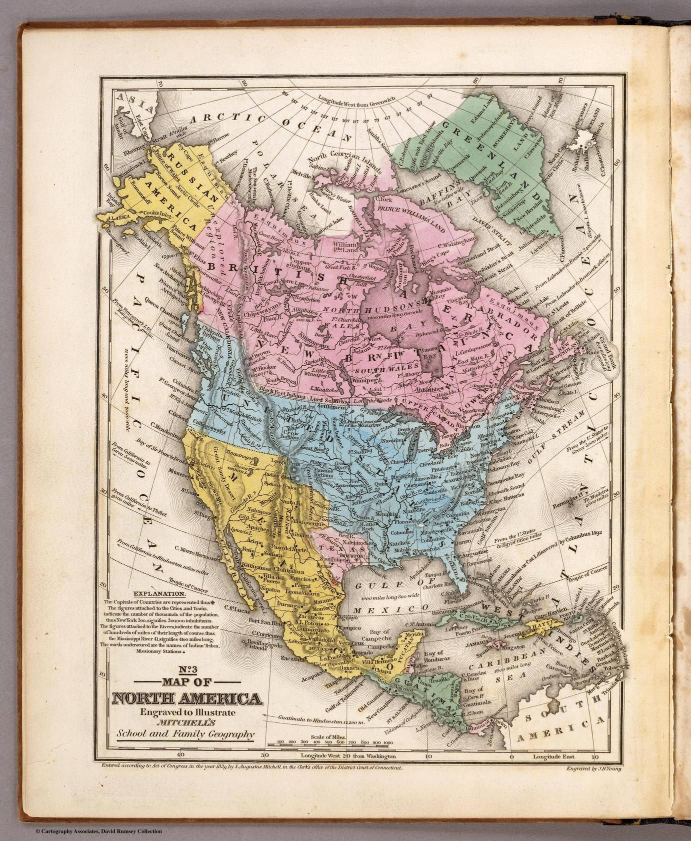 Map of North America 1839 MAPS Pinterest