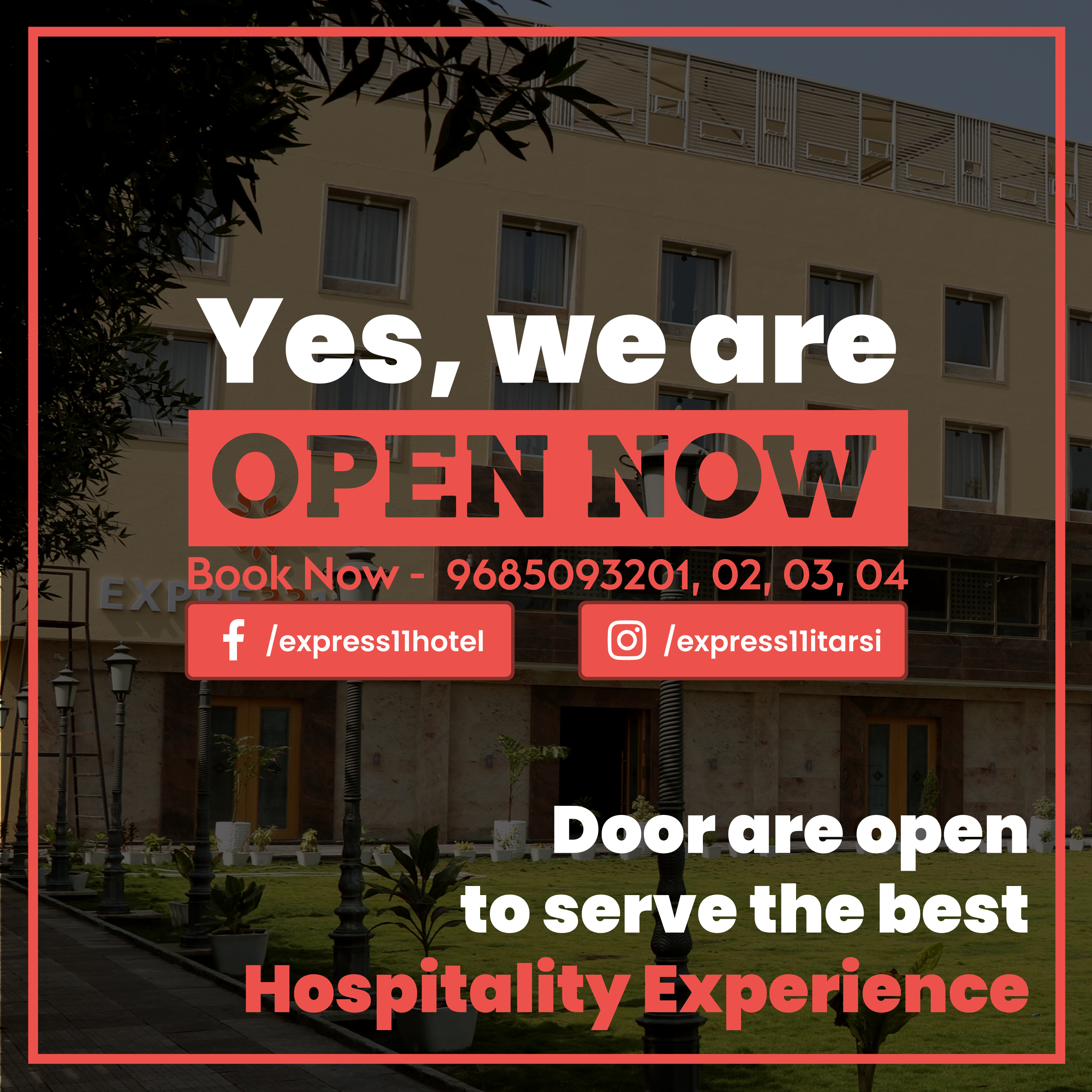 We Are Open Now Hotel Conference Hall Banquet Hall