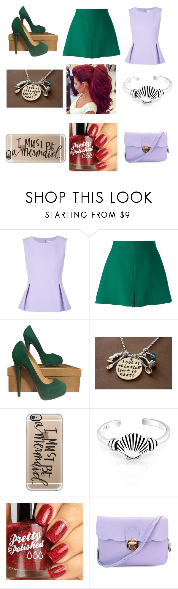"""Ariel..."" by singerforlyfe ❤ liked on Polyvore featuring Diane Von Furstenberg, Valentino, Christian Louboutin, Casetify, Bling Jewelry, women's clothing, women's fashion, women, female and woman"