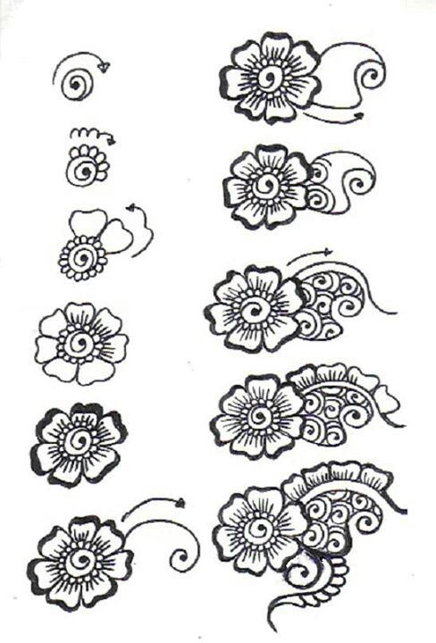 Henna Step By Step Not Sure Who Drew It Henna Begin