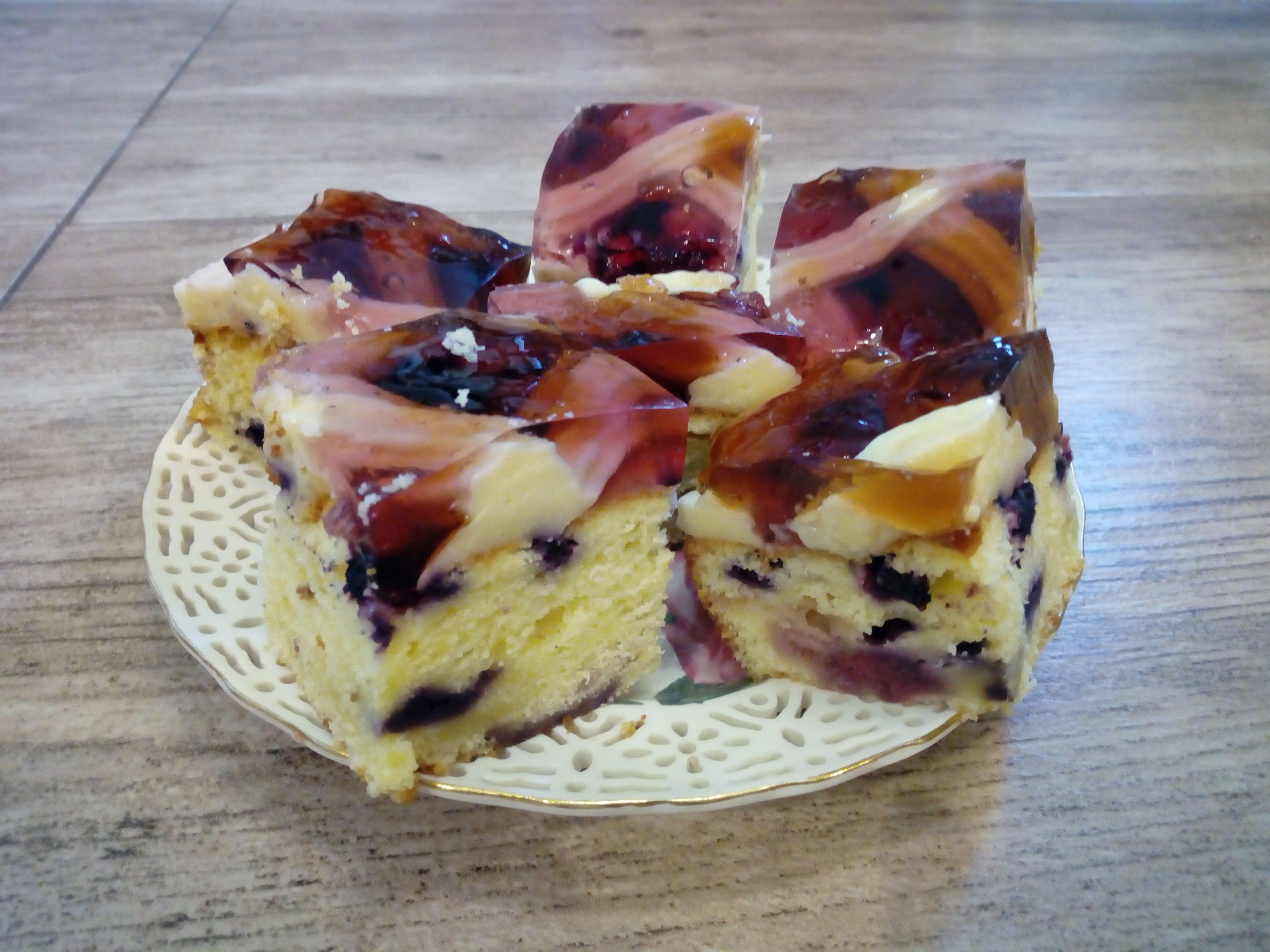 Ciasto Jogurtowe Z Owocami Budyniem I Galaretka Moje Ciasta