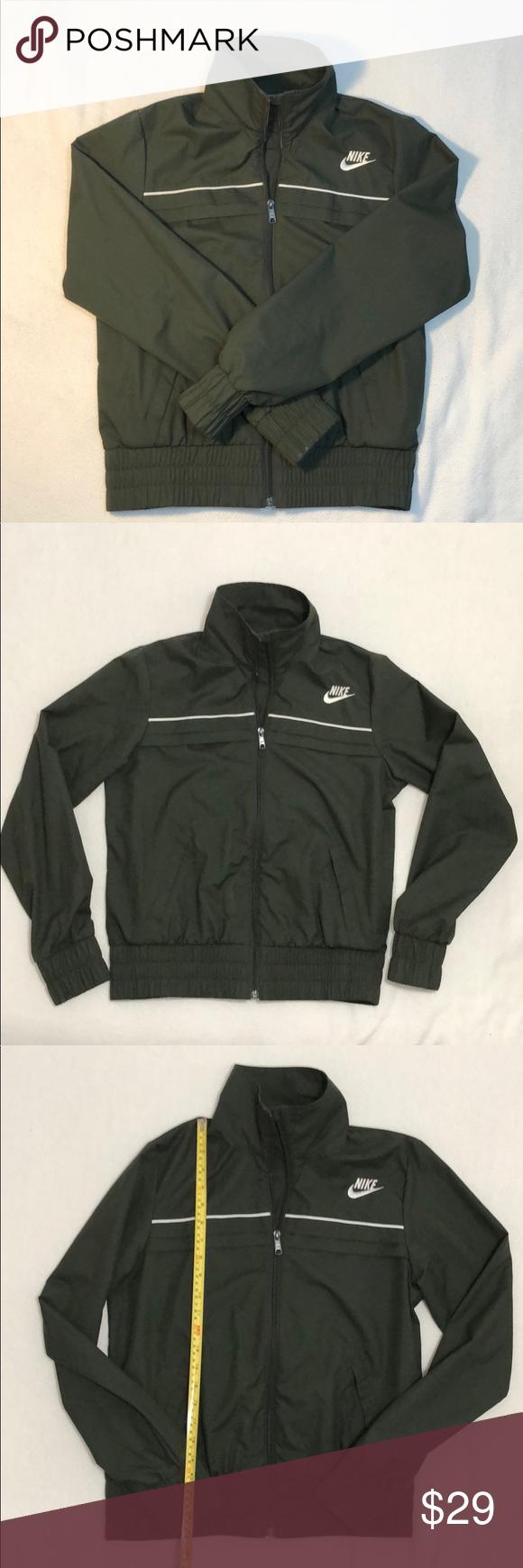 4bf3643ed9b7 Nike hunter green lightweight bomber jacket Perfect for Spring! Super cute  Nike lightweight zip up