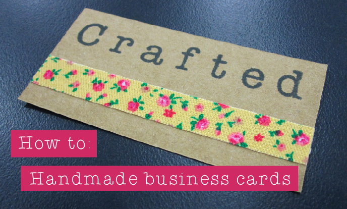crafted how to handmade business cards with images
