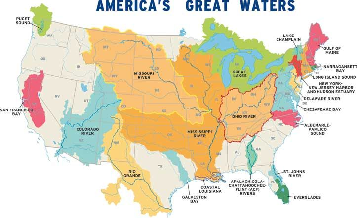 NPCA Recognizes That The Health Of Our National Parks Is Directly - Us map chesapeake bay